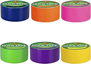 Duck Brand Duct Tape Multi-Color 6 Pack, Bright Colors (Pink, Yellow, Orange, Blue, Purple, Green)