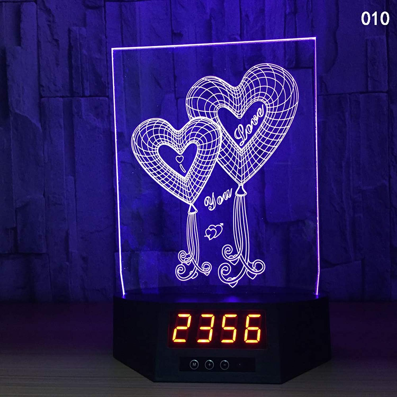 Geführte Fernsteuerungsnotentischlampe der ununterbrochenen Uhr des Kalenders Kalenders Kalenders 13d bunte Fernsteuerungsnotentischlampe B07P98QBF9 | Hohe Qualität und günstig  c7f180
