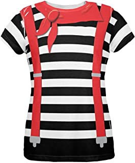 Old Glory Halloween French Mime Costume All Over Womens T Shirt