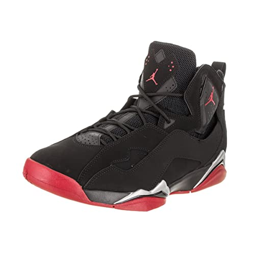 best loved 25ffd a8e23 Jordan True Flight Men s Basketball Shoes Black Gym Red-Metallic Silver  342964-001