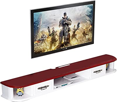 2 Drawer MDF TV Cabinet, TV Stand Console Wear-Resistant Paint Finish, Suitable for Living Room/Bedroom (Size : 130cm)