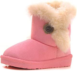 CCZZ Chica Calentar Botas De Nieve Niños Invierno Botines Ante Anti-Deslizante Zapatos Botas de Trabajo Zapatos Calientes ...