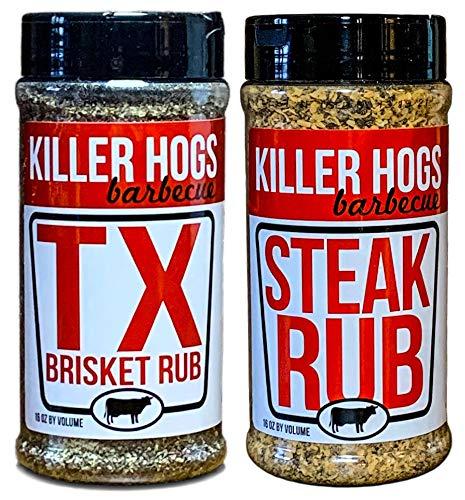 Killer Hogs BBQ Rub Bundle - TX Brisket Rub - Steak Rub