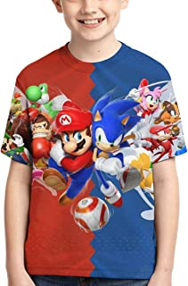 Mario Shirts Boys T-Shirts Teens Novelty Tops Fashion Youth Funny Tee for Kids
