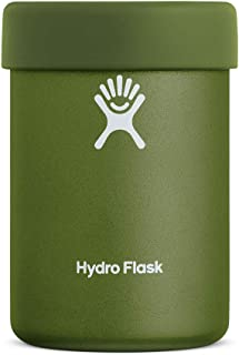 Hydro Flask Cooler Cup - Stainless Steel & Vacuum Insulated - Removable Rubber Boot - 12 oz, Olive