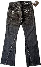 True Religion New Men's Flare Denim Jeans - Joey Destroyed - Black Vintage