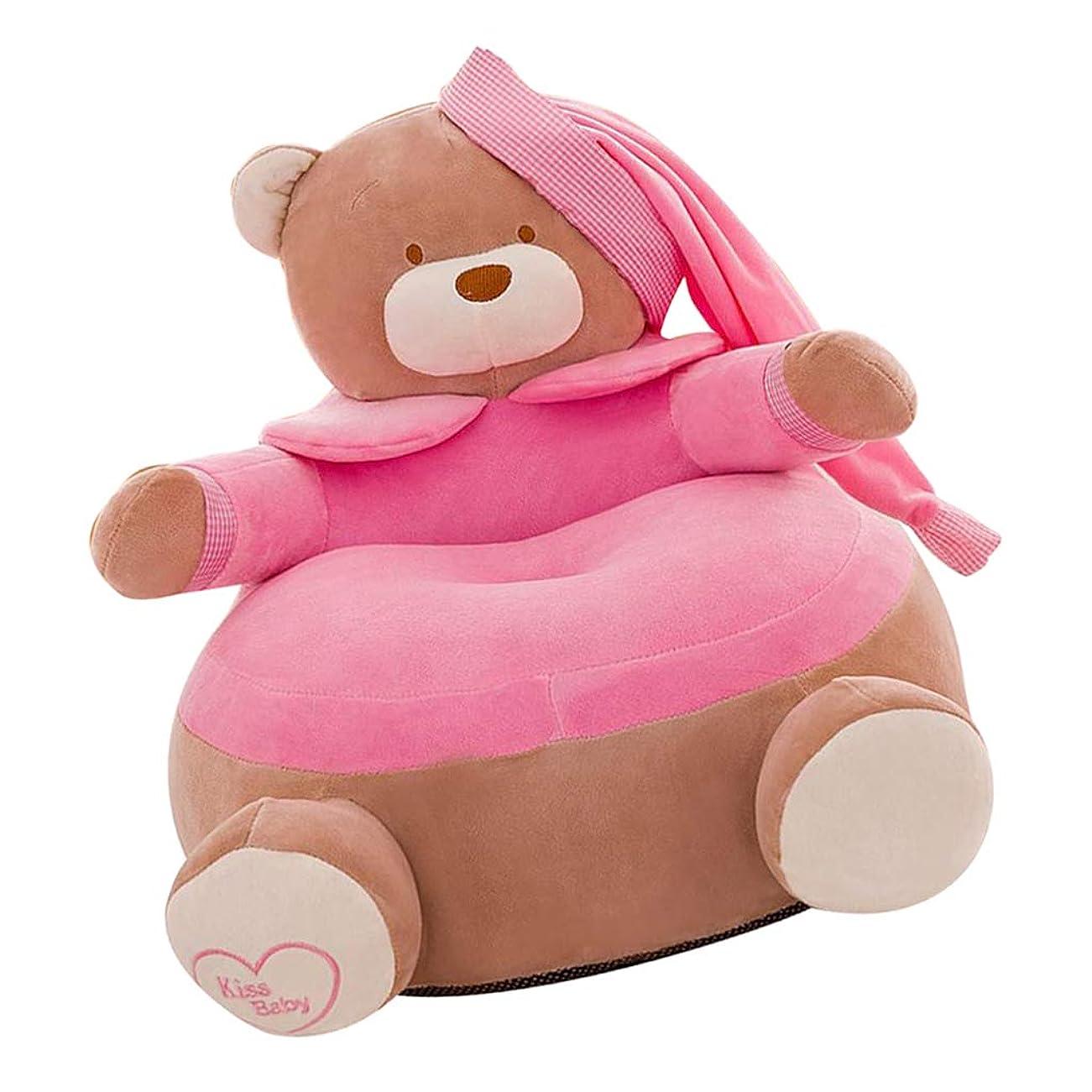 分注するわずらわしいハンディキャップKESOTO ソファーカバー 補充でき 子供用 玩具収納バッグ ぬいぐるみチェア キッズソファー ベルベット - ピーチベア