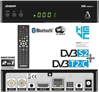 Edision OS Nino + Full HD Linux E2Combo Ricevitore H.265/HEVC (1X DVB-S2, 1X DVB-T2/C, Wi-Fi integrato, Bluetooth integ...