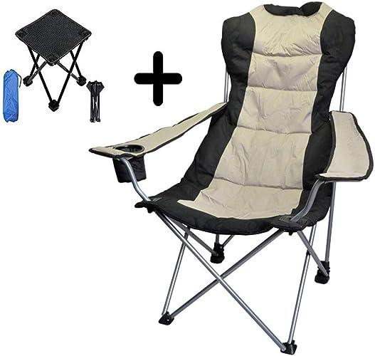 Hxx Chaise de Camping Pliante Portable Festival Festival pêche siège de Voyage en Plein air Portable, léger avec Petit Tabouret de Camping