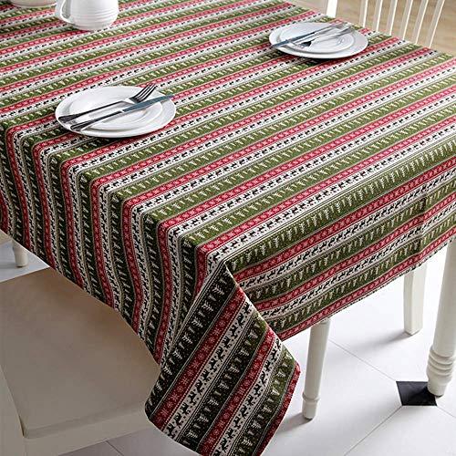 XIAOE Mantel Sala de Estar Decoración navideña de Vacaciones Restaurante al Aire Libre Protector Boda Decoración del hogar Simple Mantel Moderno de Hotel Mantel de algodón Cubierta 140x180cm
