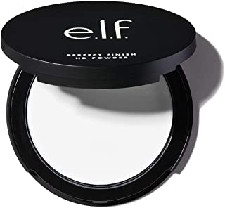 e.l.f, Perfect Finish HD Powder, Convenient, Portable Compact, Fills Fine Lines, Blurs Imperfections, Soft, Smooth Finish, Anytime Wear, 0.28 Oz