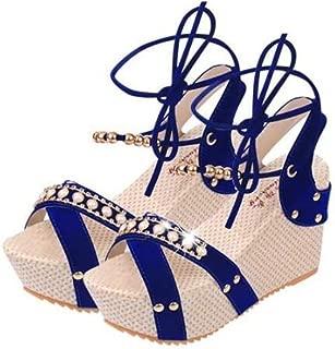 SHANLEE Summer Flat Bottom Beach Shoes Rhinestones Roman Casual Herringbone Sandals