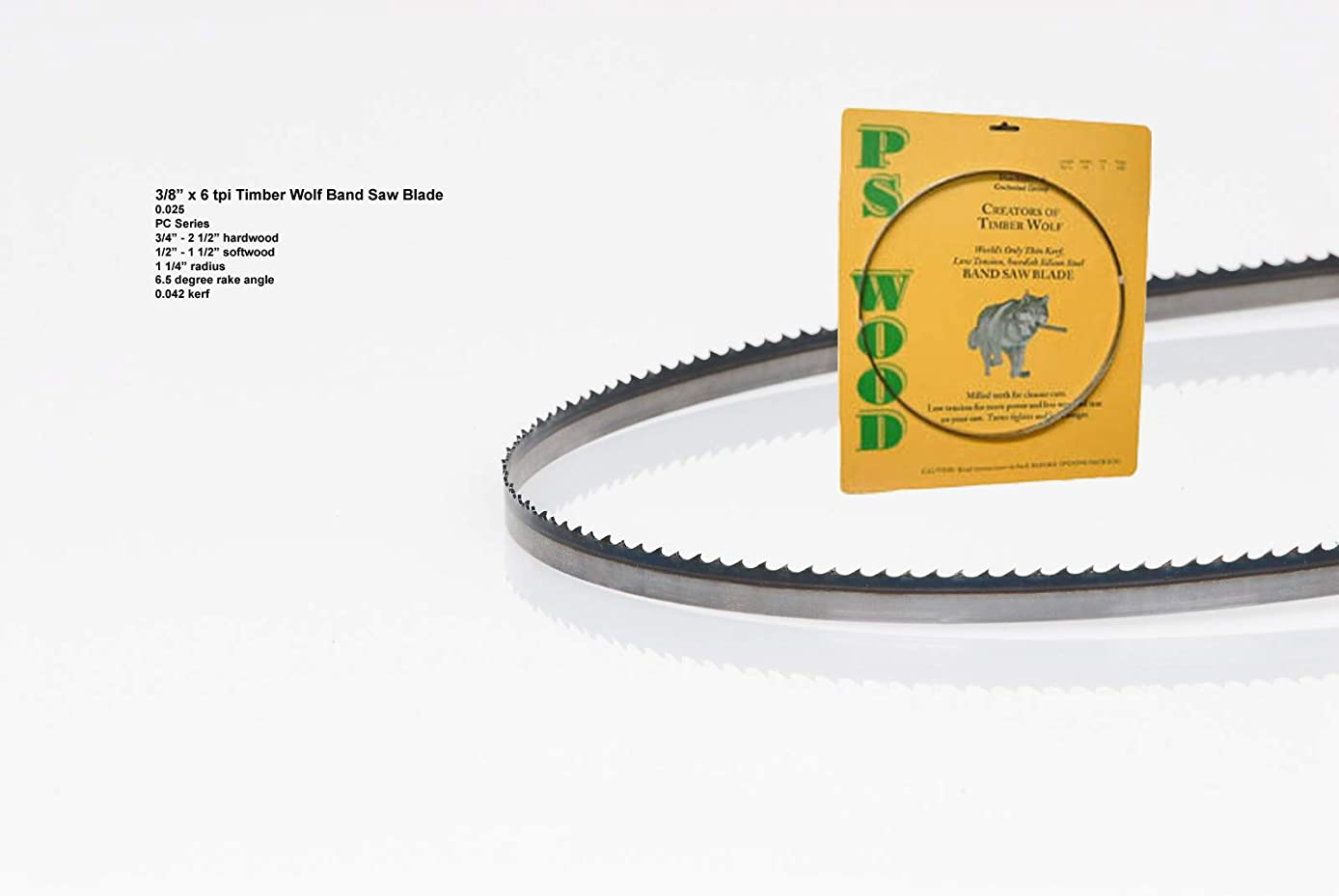 Timber Wolf 133 x 3/8 x 6 tpi band saw blade