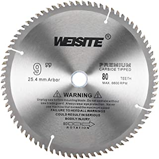 uxcell 9 inches Circular Saw Blade, 80T 3/4 inches Arbor, Wood TCT Carbide Tipped Slitting Saw