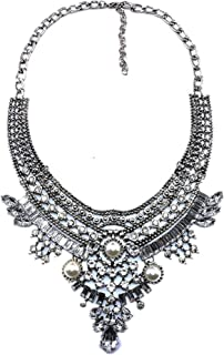 Vintage Anti Silver Gold Tone Long Boho Statement Necklace Bohemian Indian Jewelry