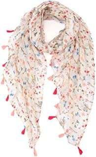Womens Scarf Lightweight Floral Shawl Wraps Long Head Scarfs for Women