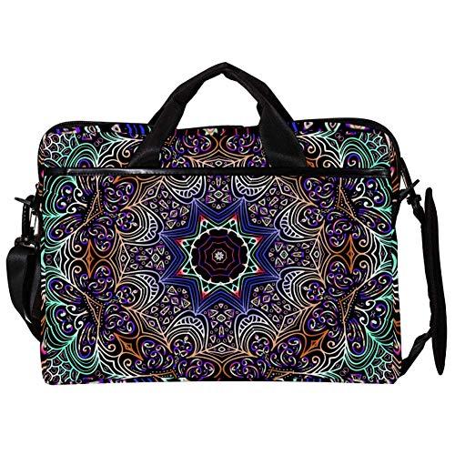 """EZIOLY Hipple Mandala Floral 14"""" 15"""" Laptop Messenger Bag Crossbody Maletín para portátil de 14"""" a 15.4"""""""