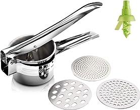 GOGIGI Ricer for Mashed Potatoes Potato Masher Stainless Steel Mashed Potatoes Masher Potato Ricer Press Potato Ricer and ...