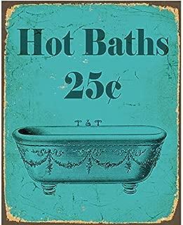 TGDB Vintage Hot Bath Bathroom Vinatge Sexy Metal Tin Sign Wall Plaque