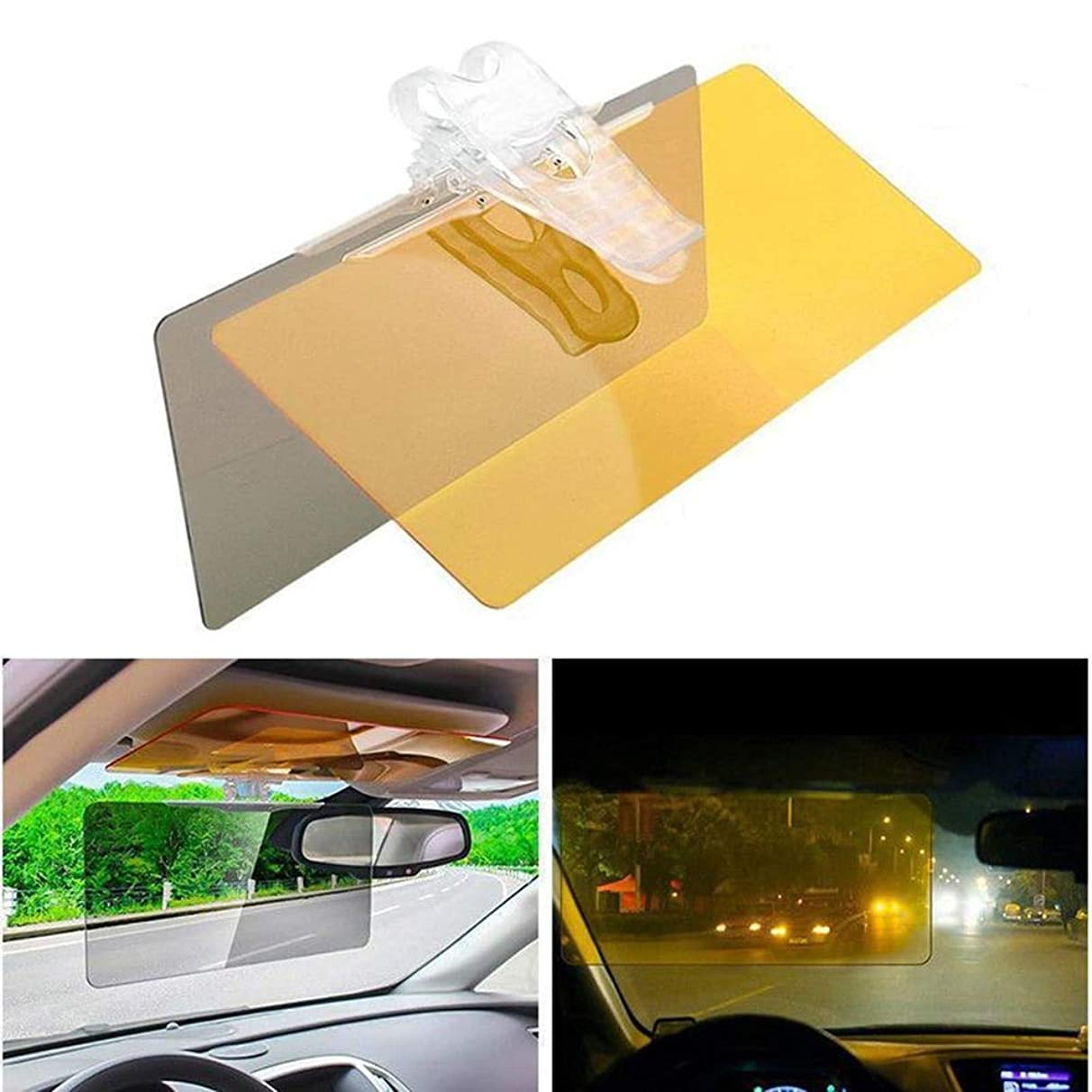 Alina-Shops - HD Anti Zonlicht Dazzling Anti Glare Visor Daytime Night Driving HD Vision Car Sun Visor Windshield For Bmw Ford VW Volkswagen