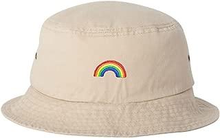 Adult Rainbow Embroidered Bucket Cap Dad Hat
