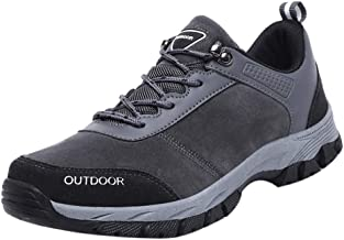 NEEKEY Men Hiking Shoes Sneakers Athletic Outdoor Sports Wild Non-Slip Hiking Lace Up Sneakers Sport Running Shoes