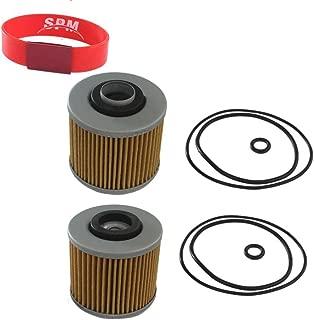 SPM 2PCS Oil Filter for Yamaha V Star 1100 650 Virago 1100 1000 920 750 700