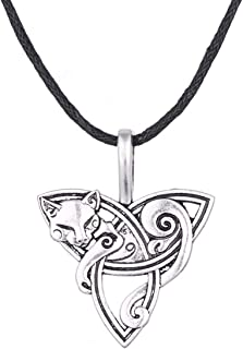 cat triquetra necklace