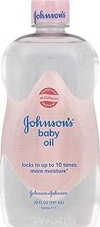 Johnson's Aloe Vera & Vitamin E Baby Oil, 20 Ounces (Pack of 1)