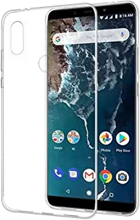 Amazon Brand - Solimo Mobile Cover (Soft & Flexible Back case) for Mi A2 (Transparent)