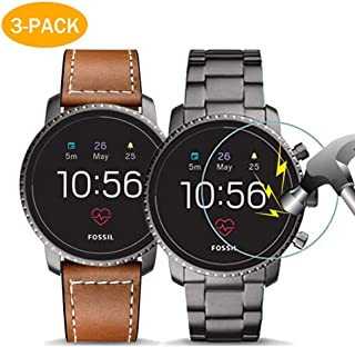 Aaiffey 3-Pack Fossil Q Explorist HR Gen 4 Screen Protector Tempered Glass for Fossil Q Explorist HR Smartwatch [2.5D 9H Hardness][Anti-Scratch]