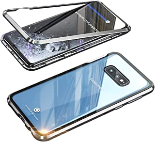 EUDTH Galaxy S10e Case, 360° Full Body Magnetic Adsorption Metal Frame Flip 9H Tempered Glass [Front and Back] Full Screen Coverage Protective Case Cover for Samsung Galaxy S10e -Black