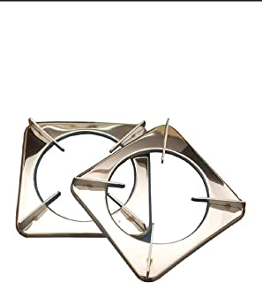Pooja ecommerce Stainless Steel, Rust Proof Square LPG Gas Stove Parts/Pan Support/LPG Stand/Stove Stand (Silver, 19x19x3 ...