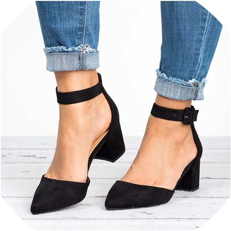 Low Heels Sandals Women Ankle Strap Summer shoes Block Heels Women Casual Sandals
