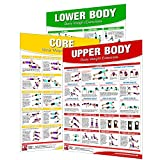 Laminated Bodyweight Workout Set of Posters/Charts - Bodyweight Training - Created by University...