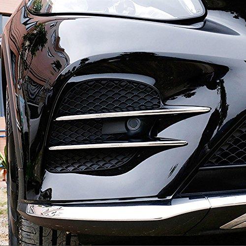ABS-Lufteinlassgitter/Kühlergrill mit Chromleisten, Autozubehör, für Mercedes Benz GLC, 4 Stück