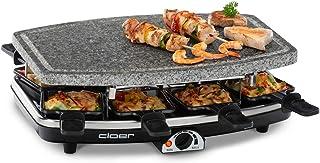 comprar comparacion Cloer Raclette Grill 6430, 1100 W, Acero Inoxidable, negro