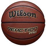 Wilson, Pallone da basket, Reaction Pro, Arancione, Pelle sintetica, Misura 5, Uso all'int...
