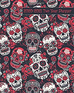 2020-2021 Two Year Planner: Red and Black Skulls Cover on a Weekly Monthly Planner Organizer. Perfect 2 Year Motivational Planner, Agenda, Schedule ... Theme. (Dia De Los Muertos 2 Year Planner)