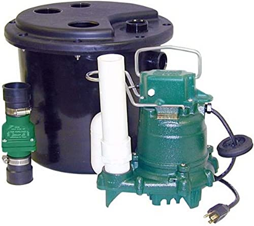 Zoeller 105-0001 Sump Pump, 12.50 x 14.50 x 14.50 inches, 19 Pound