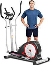 ANCHEER Elliptical Machine for Home Use, Magnetic Elliptical Training Machine with Pulse Rate Grips and LCD Monitor, Smoot...