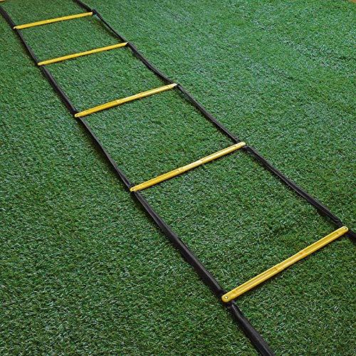 Escalera for agilidad - 8/10/12/16 peldaño de la escalera Escalera velocidad fútbol velocidad agilidad Equipo de entrenamiento, La escalera for el entrenamiento de fútbol, escalera de cuerda de salt