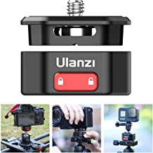 Quick Release Plate, ULANZI Quick Release Plate Adapter for Camera Tripod/Gimbal/Video Monitor/Magic Arm Flash Bracket/Stabilizer, Camera Quick Release Mount with 1/4