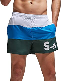 sandbank Men's Beach Shorts Quick Dry Swim Underwear Lightweight with Two Side Pockets