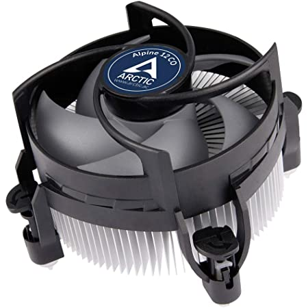ARCTIC Alpine 12 CO - CPU Cooler for Intel 115x and 1200, for Continuous Operation, 92 mm PWM Fan, up to 100 W Cooling Power, Pre-Applied MX-2 Thermal Compound, Easy Installation