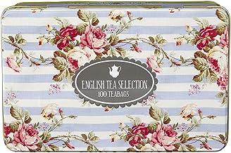 New English Teas - English Tea Selection Breakfast, Earl Grey, Afternoon 100 Tea Bags - English Fine Tea Tin