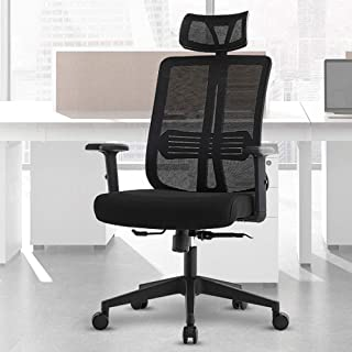 Office Chairs High Back Mesh Computer Chair Ergonomic Desk Chair Modern Executive Chair with Adjustable Armrests, Headrest...