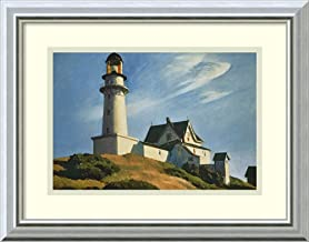 Framed Wall Art Print Lighthouse at Two Lights, 1929 by Edward Hopper 17.75 x 14.00