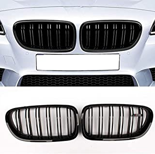 Zonsoon Front Replacement Kidney Grille Grill Compatible with BMW 5 Series F10 Glossy Black(ABS)