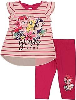 My Little Pony Little Girls' Glam Squad Bow Back Leggings Set